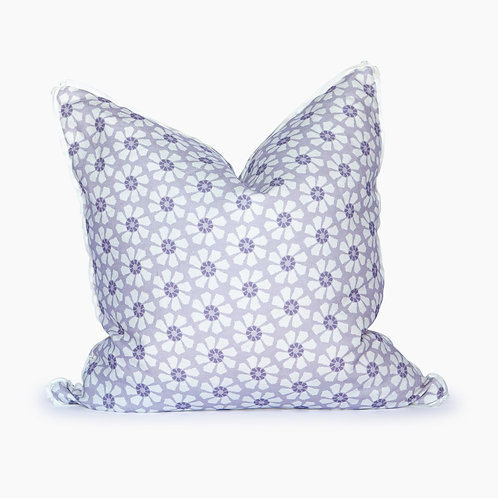 Georgia Floral Square Pillow - Heather
