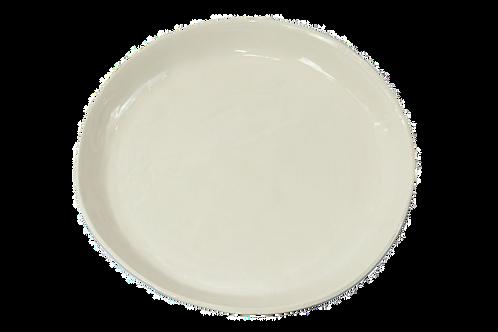 Melamine Large Round Tray - White