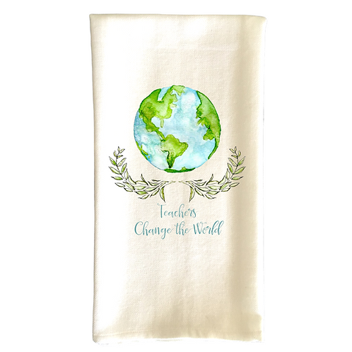 Cotton Dish Towel - Teachers Change the World