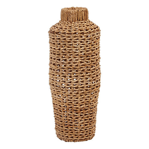 Hand-Woven Water Hyacinth Vase - Small