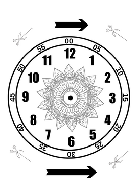 "Šablons ""Pulkstenis"""
