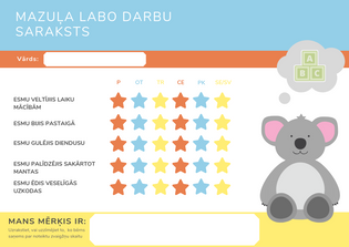 Colorful Alphabet Toddler Reward Chart (