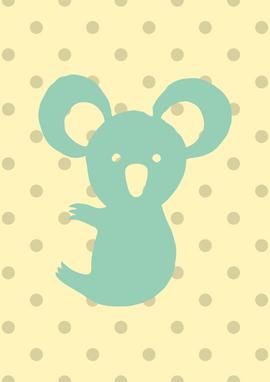 """Plakāts bērnistabai """"Koala"""""""