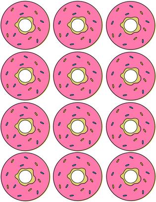"""Kūkas dekors """"Donuts"""""""