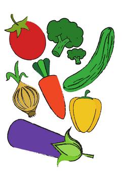 """Sagatave """"Krāsainie dārzeņi"""""""