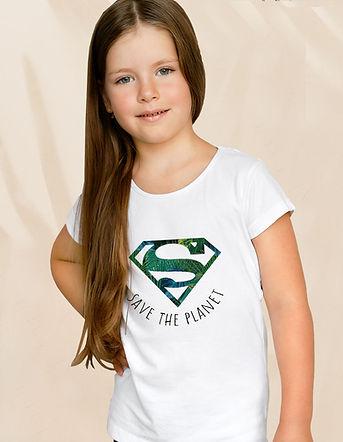 t-shirt de algodão orgânico do super homem