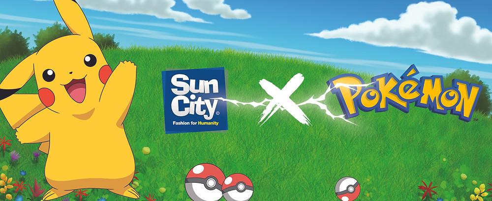 Roupa do Pokemon em parceria com a SunCity Ibérica