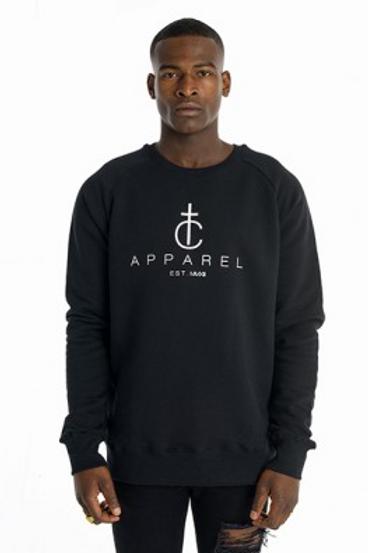 Tall Crooks - TC Original Sweater Black - Front View