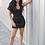 Thumbnail: Dray N Blue - Track Dress Black