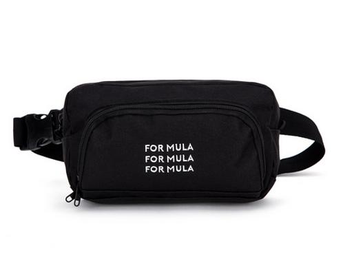 For Mula - Triple Logo Waistpack - Black