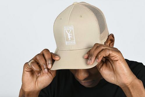 Youngfreshco - Beige Meshback Trucker Hat