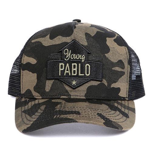Dapped Clothing - Young Pablo Khaki/Black Camouflage Trucker