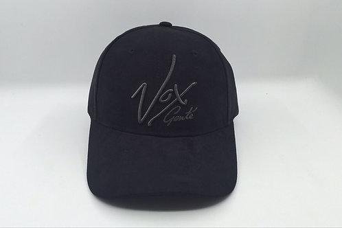 Vox Gente - Suede Round Peak Black Signature Baseball Cap