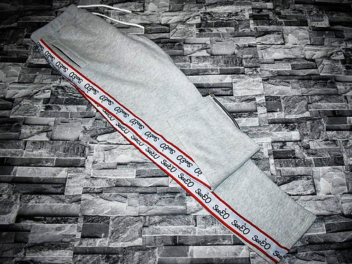 SeeÈO - Grey SeeÈO Taped Tracksuit Bottoms
