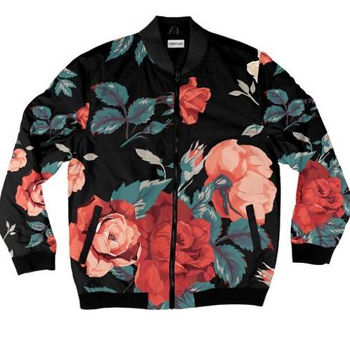 I Am Dope - Seamless Floral Bomber Jacket