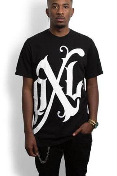 Profit X Loss - Black Oversized Monogram T-Shirt