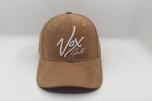 Vox Gente - Suede Round Peak Beige Signature Baseball CapSuede Round Peak Beige