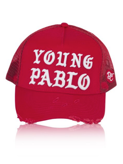 Dapped Clothing - Red/White Young Pablo 3D Trucker