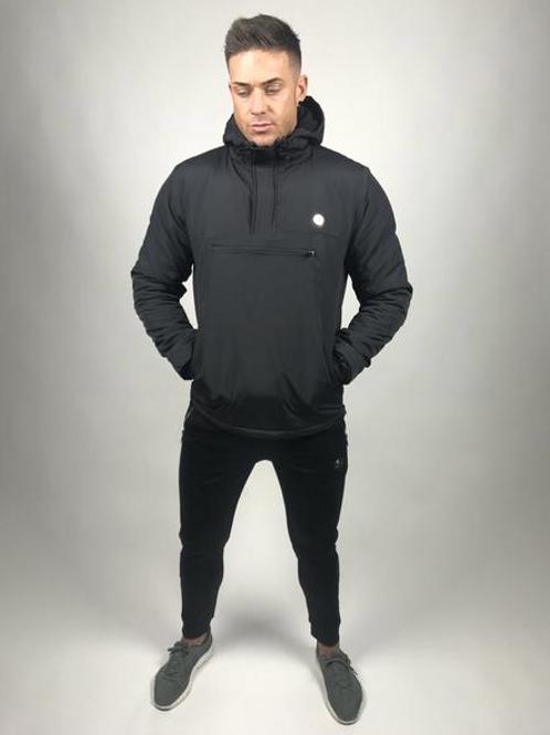 Tremor Apparel - Half Zip Padded Pullover Jacket Black
