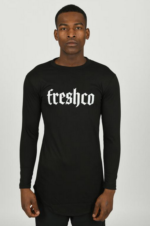 Youngfreshco - Black Muscle Fit Long Sleeve
