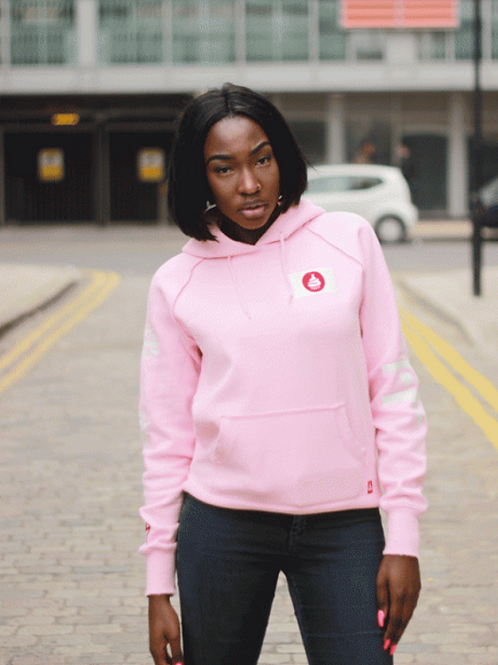 Cake Club Pink Candy Floss OIL Oversized Hoodie