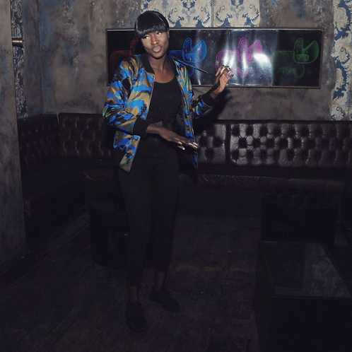 The Cake Club Blue Army Candy Camo – Bomber Jacket