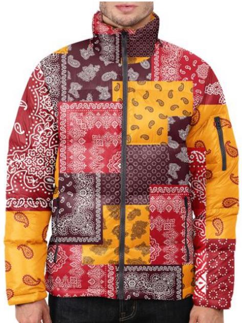 I Am Dope - Banada Pattern Puffer Jacket
