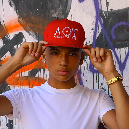 Ahead Of Time - Red/White Snapback