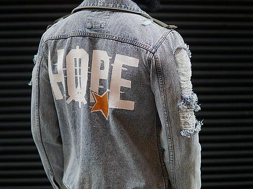 Know Hope / House Of Livin Life Denim Jacket
