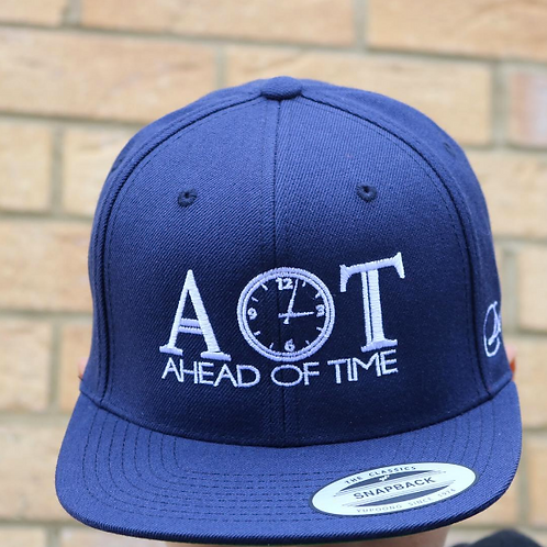 Ahead Of Time - Blue/White Snapback
