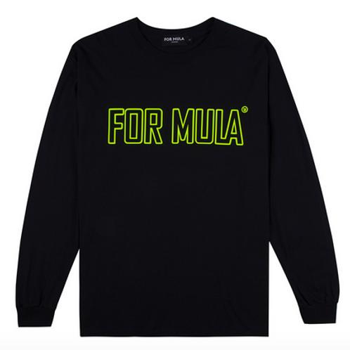 For Mula - Staple Logo Long Sleeve - Black