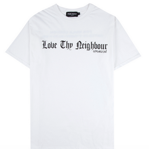 For Mula - Love They Neighbour T-Shirt - White