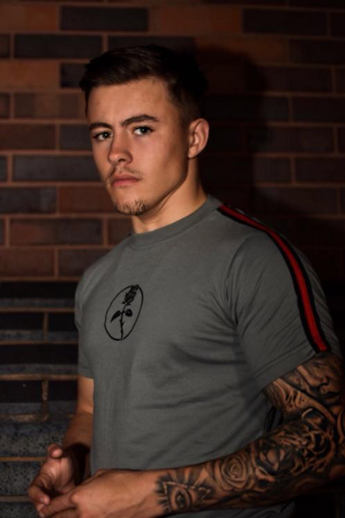 Blackguard - Red Stripe T-Shirt - Grey