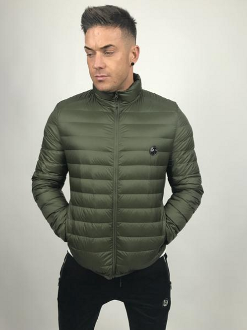 Tremor Apparel - Khaki Quilted Down Jacket