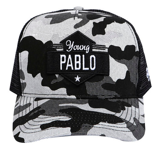 Dapped Clothing - Young Pablo White/Black Camouflage Trucker