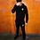 Thumbnail: Odum - Black Slim Fit Tracksuit (Hoody)