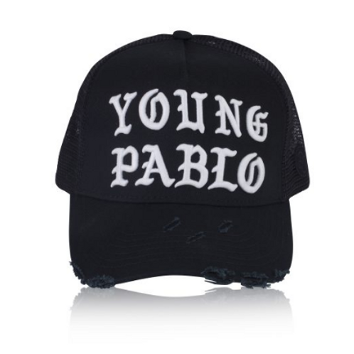 Dapped Clothing - Black/White Young Pablo 3D Trucker