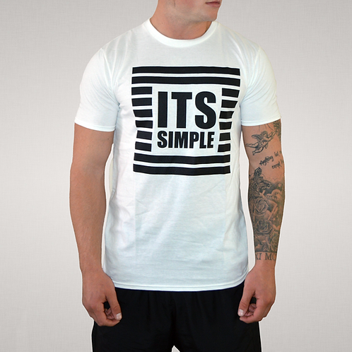 Its Simple - White 'Boxed In' Box T-Shirt