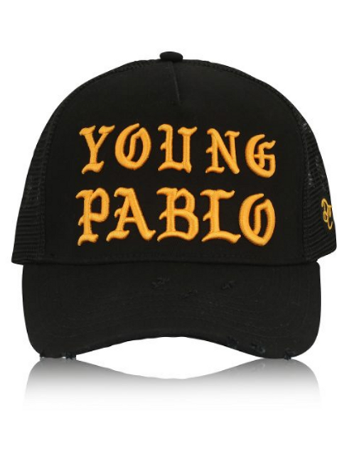 Dapped Clothing - Black/Gold Young Pablo 3D Trucker