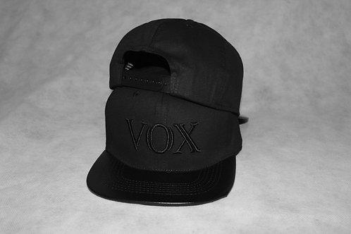 Vox Gente - Flat Peak Black Stencil Snapback