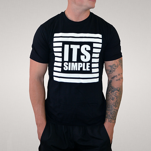 Its Simple - Black 'Boxed In' Box T-Shirt