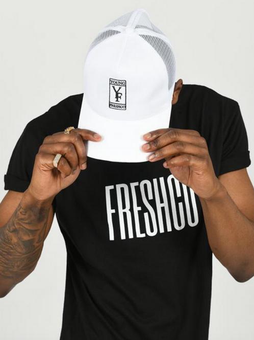 Youngfreshco - White Logo Mesh Back