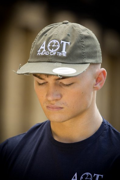 Ahead Of Time - Buck Distressed Dad Cap