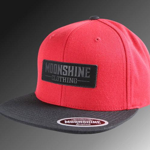 Moonshine - Black Label / Red Snapback