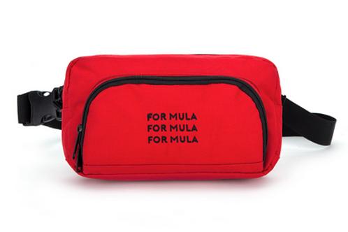 For Mula - Triple Logo Waistpack - Red