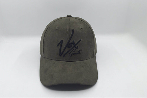 Vox Gente - Suede Round Peak Khaki Signature Baseball Cap