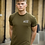 Thumbnail: Ahead Of Time - Olive Green Fitted T-shirts