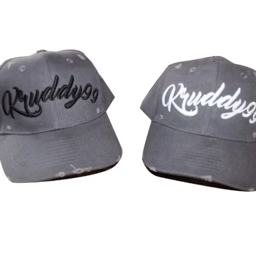 Kruddy99 - Distressed Grey Baseball Cap