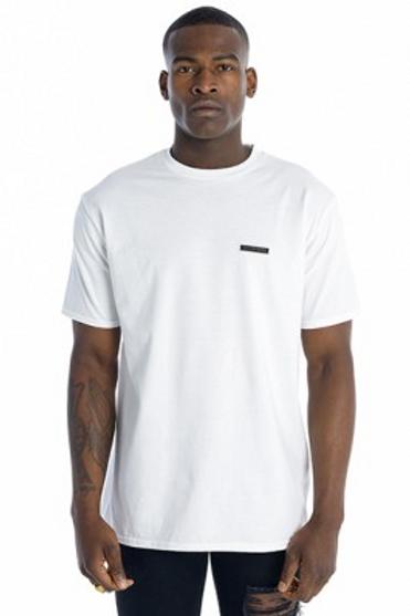 Tall Crooks - Metal Badge T-Shirt White