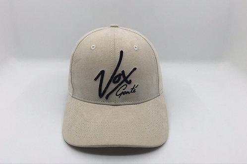 Vox Gente - Suede Round Peak Cream Signature Baseball Cap
